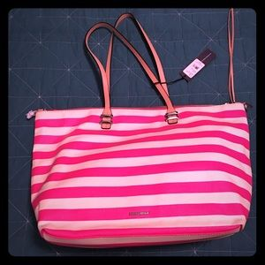 "Rebecca Minkoff Anytime Tote in ""Flamingo Multi"""